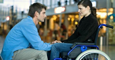 moski ženska invalid pogovor sreča